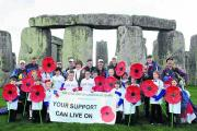 Parachute entry into Stonehenge launches Royal British Legion appeal
